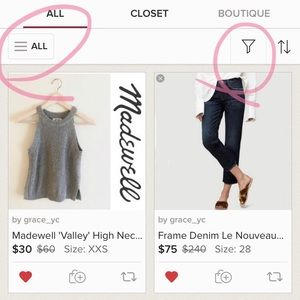 Tops - filter to see your size or only women/men items!
